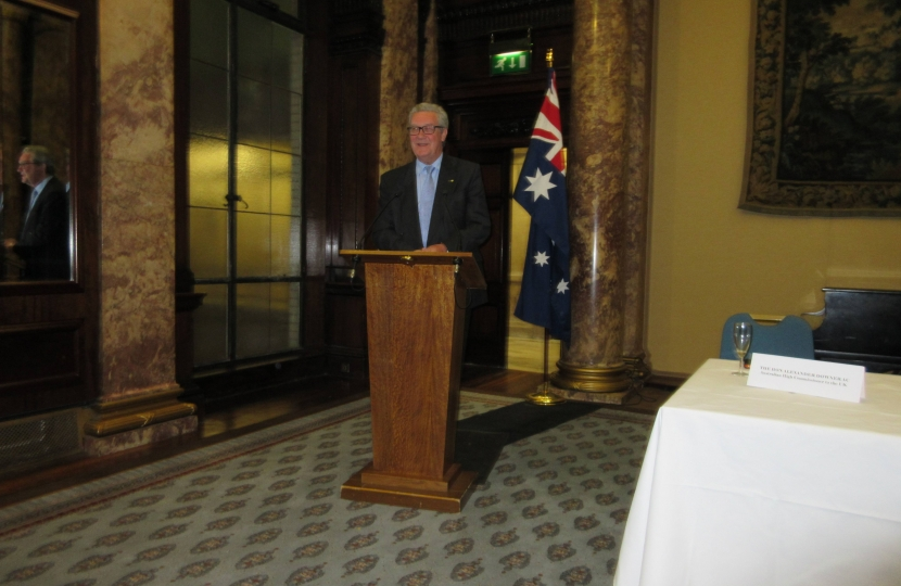 Autralian High Commissioner Speech