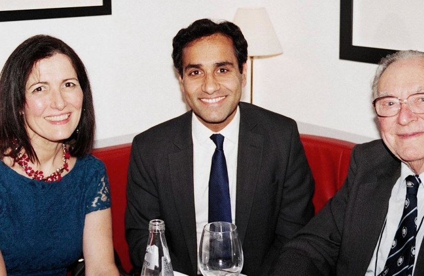 Rehman Chishti MP, Sir Ronald Halstead CBE and Melissa Crawshay Williams.  Photo credit:  LONDRA SERA